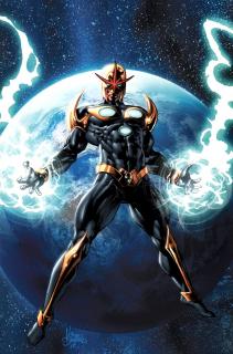 Richard Rider aka Nova - w komiksach był on ostatnim pozostałym przy życiu funkcjonariuszem Nova Corps; w wyniku wybuchu energii pochodzącej od centuriona z planety Xandar Rider zyskał nadludzkie moce