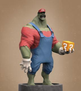 Hulk jako Super Mario