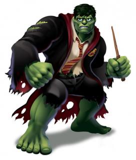 Hulk jako Harry Potter