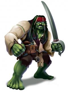 Hulk jako Jack Sparrow