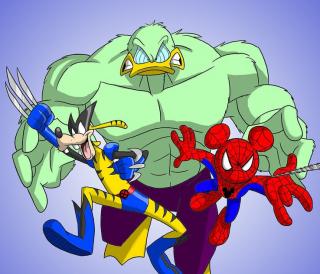 Hulk jako Kaczor Donald