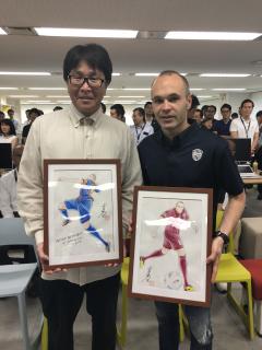 Andres Iniesta i Yōichi Takahashi, twórca Kapitana Tsubasy