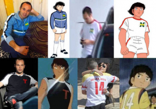 Andres Iniesta w koszulkach z serialu