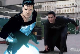 Czarny kostium Supermana znamy już z komiksów - to w nim Superman wracał po swoim zmartwychwstaniu