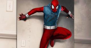 Spider-Man i jego strój domowy - Spider-Man: Homecoming (lepszy)