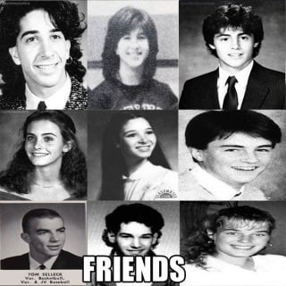 Przyjaciele - zdjęcia zakulisowe