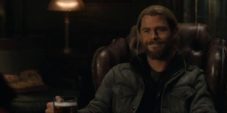 Doktor Strange - scena #1; Thor popija piwo