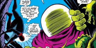 Pomniejszony Spider-Man - taktyka kilkukrotnie wykorzystana przez Mysterio; swego czasu zmniejszony Pajączek stał się jedną z zabawek w pokoju dla dzieci