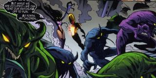 Skrulle boją się rasy znanej jako Dire Wraiths – ta zachowuje się po prostu jak wampiry. Za pomocą długich i ostrych języków wwiercają się w ciało ofiary, a następnie wysysają jej mózg, jednocześnie przejmując wszystkie wspomnienia.