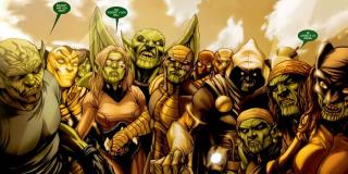 Skrulle powstały w wyniku eksperymentów genetycznych, które wszechpotężni Celestianie (należy do nich m.in. ojciec Star-Lorda, Ego) przeprowadzali na istotach przypominających wyglądem gady. W obrębie samej rasy możemy wyróżnić trzy grupy: Prime, Przedwiecznych i Dewiantów. Zarówno w komiksach, jak w filmie, widzieliśmy jedynie przedstawicieli Dewiantów – tylko oni są w stanie zmieniać swoje kształty.