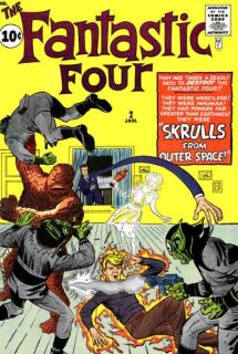 Już w trakcie komiksowego debiutu Skrulle zabiły ojca Niewidzialnej Kobiety i Ludzkiej Pochodni, zamieniając go w chodzącą bombę - do jego piersi został przypięty specjalny ładunek wybuchowy.