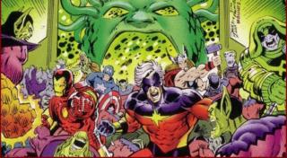 """Wojna Kree i Skrulli trwa tak długo (pojawiały się informacje o """"milionach lat""""), że nikt nie pamięta już, jak się właściwie zaczęła. Najlepiej przedstawia ją komiksowa seria Wojna Kree ze Skrullami, w której Avengers, Inhumans i pierwszy Kapitan Marvel próbują położyć kres batalii, które de facto objęła całą galaktykę. Co ciekawe, w tej opowieści pojawia się nawiązanie do komiksowego debiutu Skrulli – Vision zostaje zaatakowany przez trzy… krowy."""