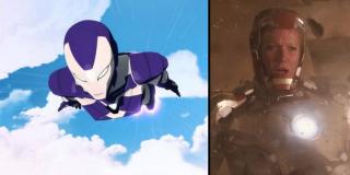 """Pepper pojawia się na ekranie w zbroi – tym samym zamienia się ona w swoje komiksowe alter ego, superbohaterkę znaną jako Rescue. Wygląd kostiumu do złudzenia przypomina ten, który znamy z serialu animowanego """"Iron Man Armored Adventures""""."""