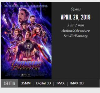 Avengers: Koniec gry - czas trwania