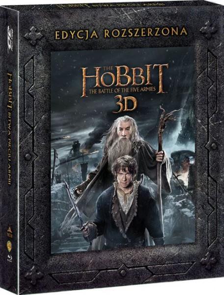 Hobbit: Bitwa Pięciu Armii - okładka Blu-ray 3D