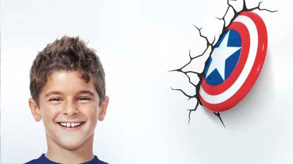 lampka - tarcza Kapitana Ameryki