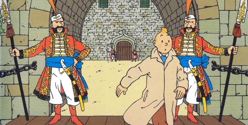 Strony z komiksu Tintin sprzedane za 1.05 mln euro