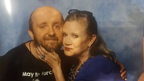 Adam Siennica i Carrie Fisher