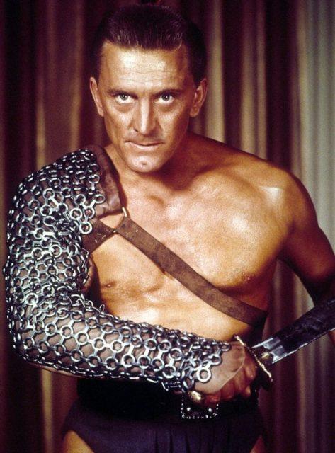 Kirk Douglas - zdjęcie ze Spartakusa
