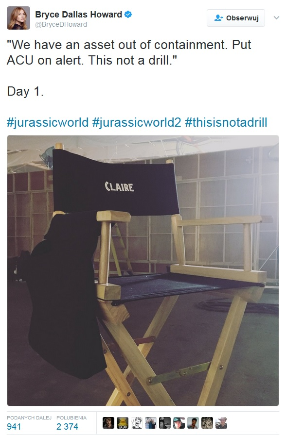 bryce dallas howard jurassic world sequel