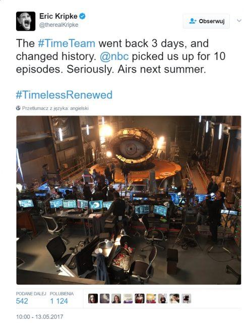 Timeless - 2. sezon - Tweet