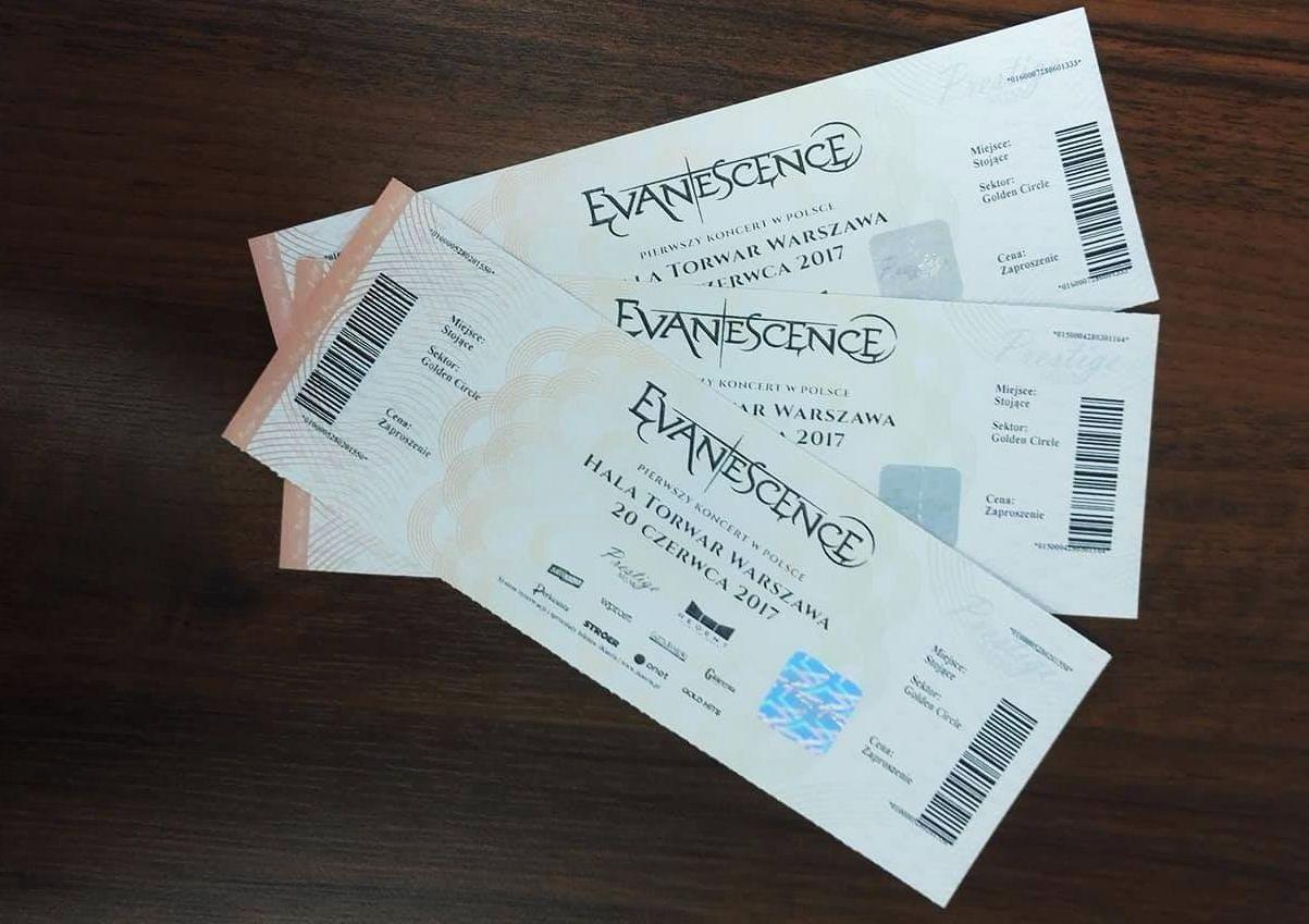 Evanescence bilety Golden Circle