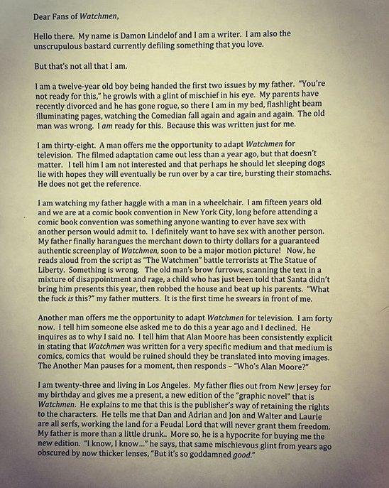List do fanów Strażników