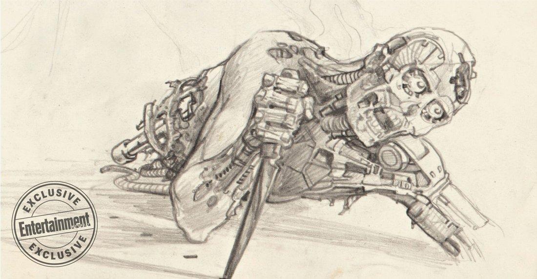 Terminator - szkic koncepcyjny