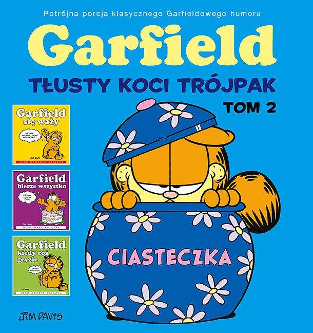 Garfield. Tłusty koci trójpak, tom 2 - okładka