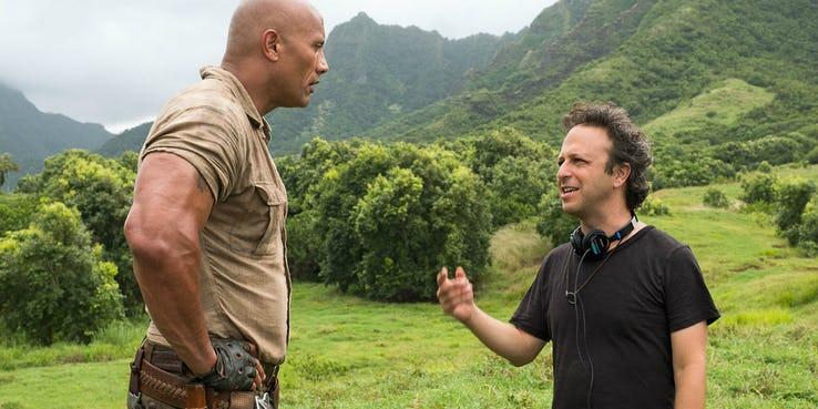 Jumanji 3 – The Rock i Danny DeVito na zdjęciu zza kulis filmu