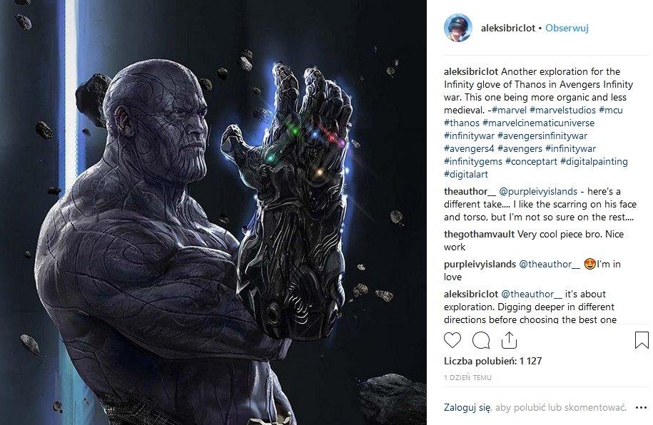 Grafika koncepcyjna do filmu Avengers: Wojna bez granic