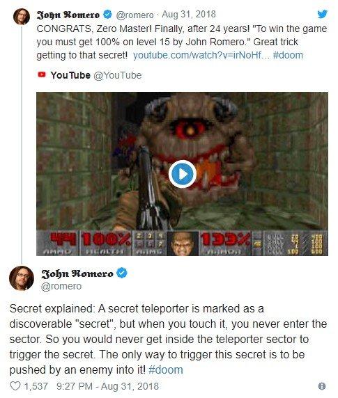 Doom 2 - sekret odkryty po 24 latach