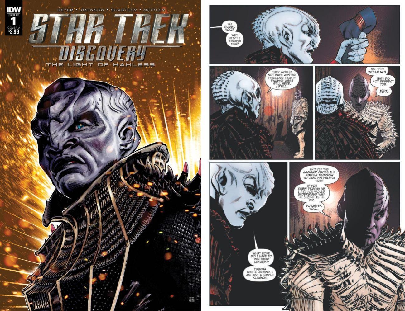 The Light of Kahless to komiks poświęcony w całości Klingonom. / fot. IDW
