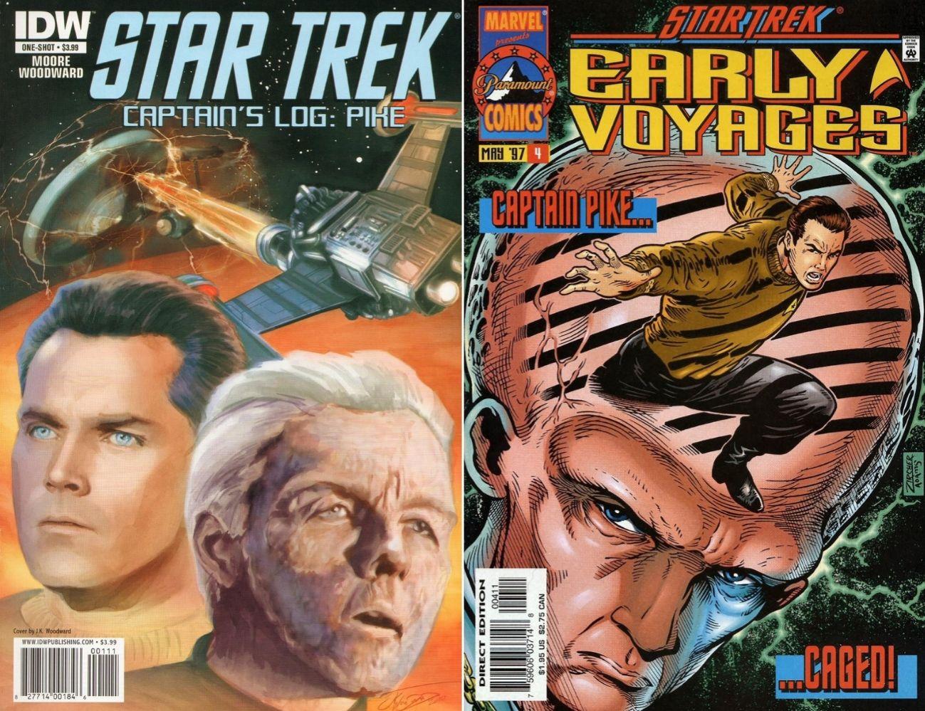 Kapitan Pike w wersji z Oryginalnej Serii miał już swoje występy w komiksach. Ale teraz czeka go nowe życie. / Fot. IDW, Marvel