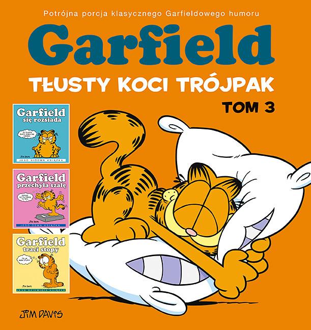 Garfield. Tłusty koci trójpak, tom 3 – okładka