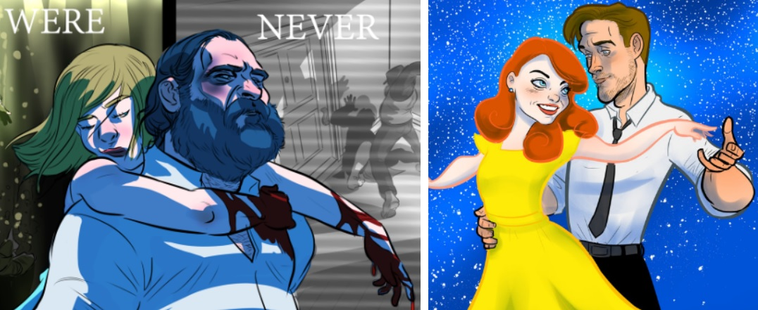 Oscarowe filmy w wersji komiksowej. Zobacz świetne prace artysty