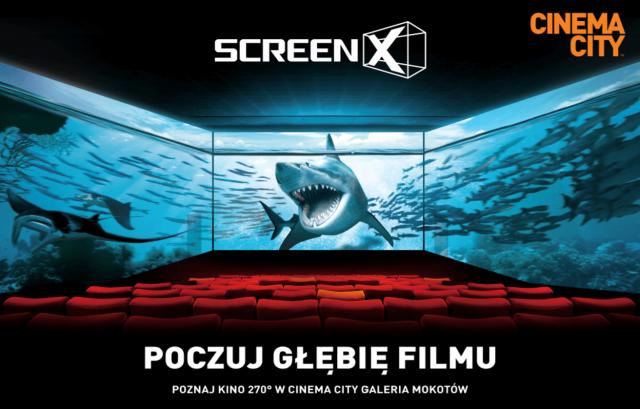 Ekran ScreenX po raz pierwszy w Polsce. Nowa technologia w Cinema City