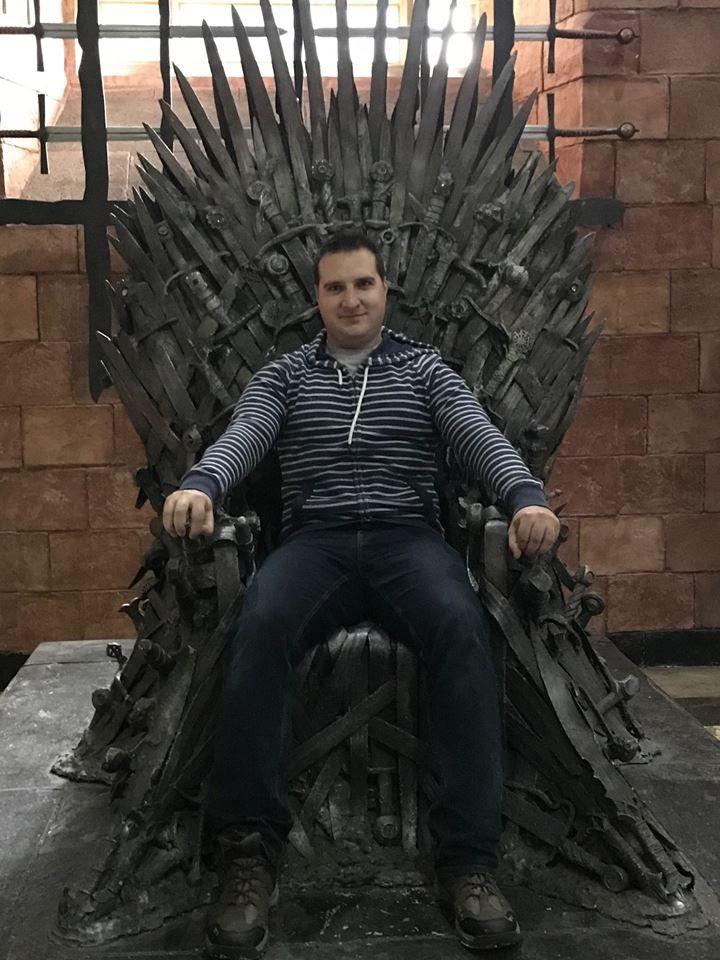 Dawid Muszyński na planie 8. sezonu Gry o tron