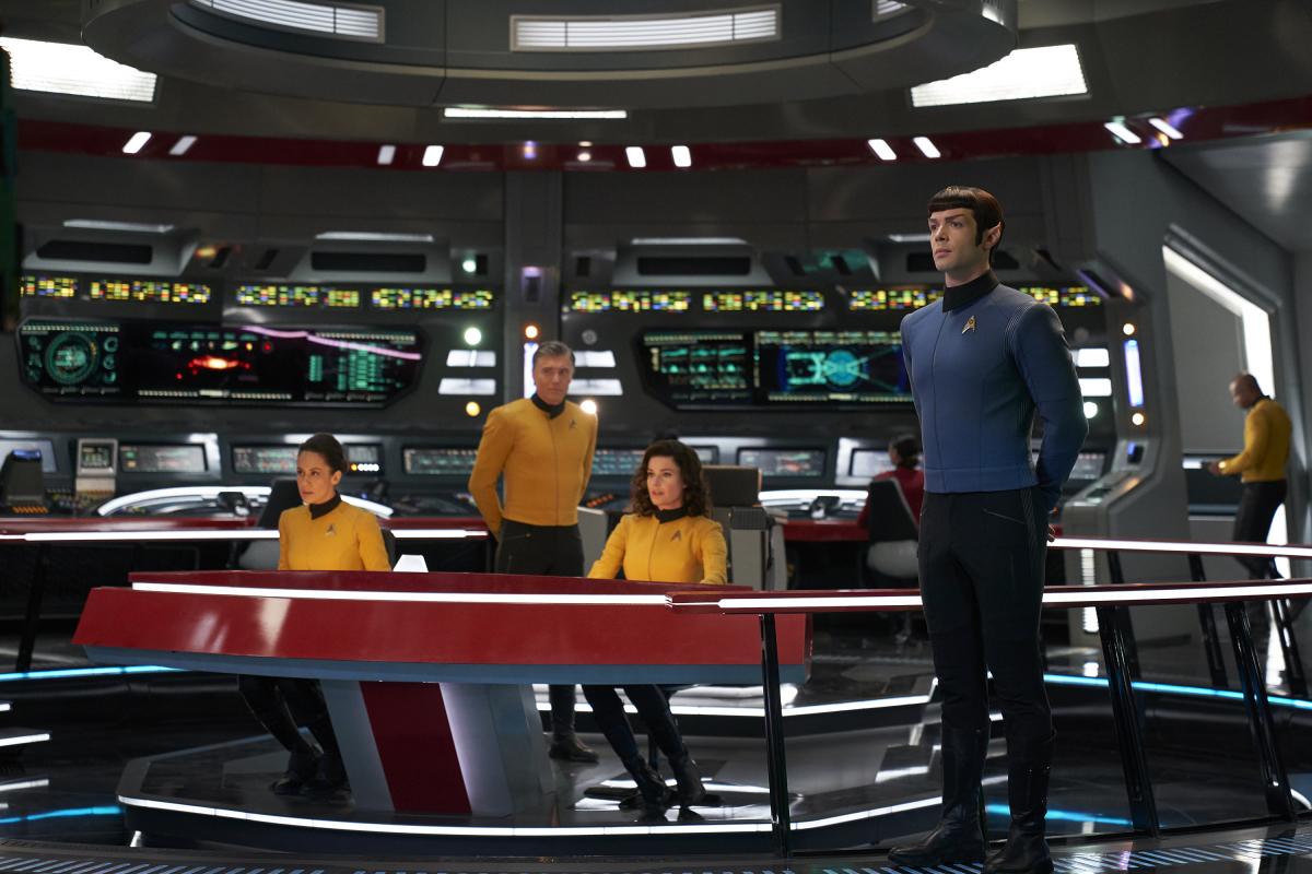 Mostek USS Enterprise w ostatniej scenie odcinka Such Sweet Sorrow cz. 2. / Fot. CBS