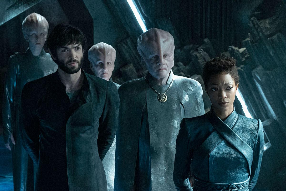 Talosianie mieszkają na planecie, na którą wstęp jest zakazany. Na szczęście Spock znał drogę. / Fot. CBS