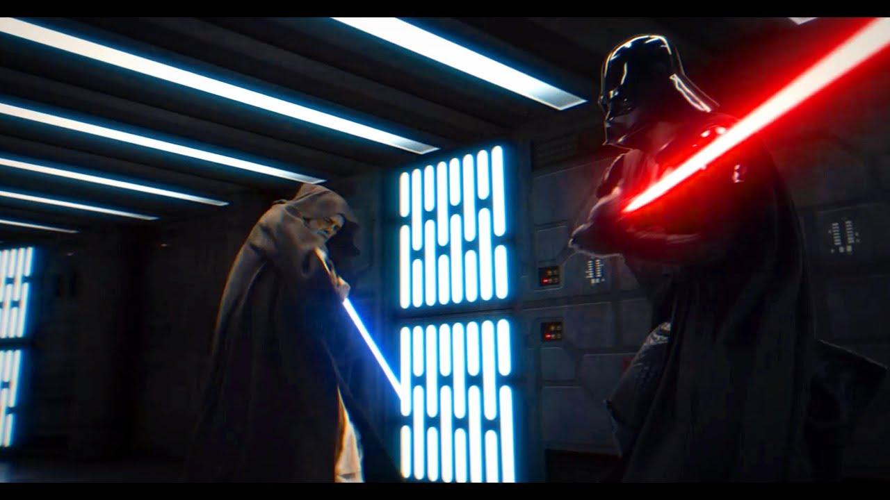 Gwiezdne Wojny: część IV - epicka walka Obi-Wana z Vaderem. Praca fana zachwyca!