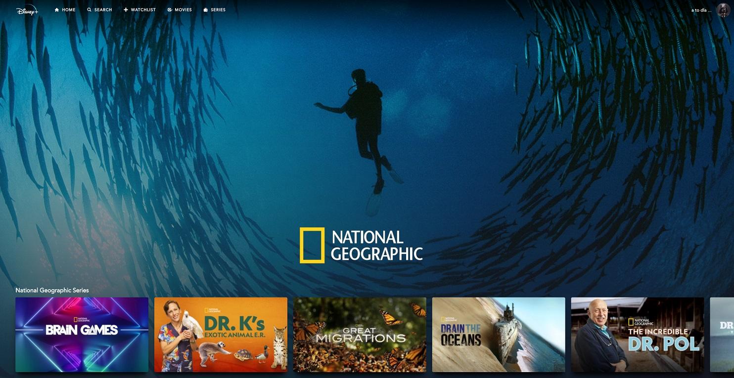 Katalog National Geographic Disney+