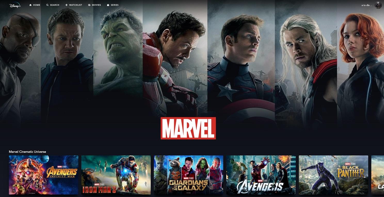 Katalog Marvela w Disney+