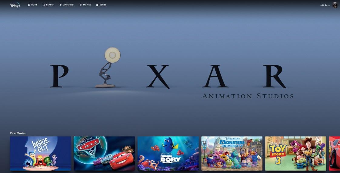 Disney+ katalog Pixara