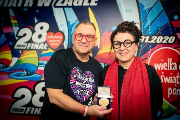 Jurek Owsiak i Olga Tokarczuk