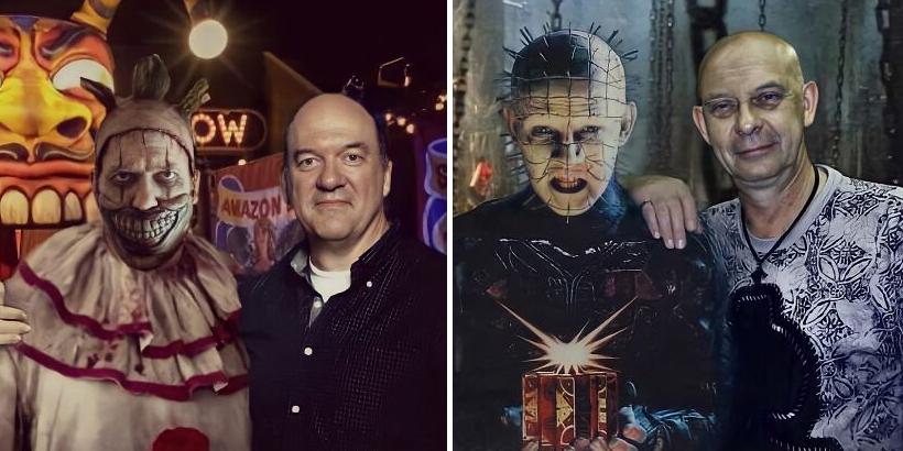 Aktorzy i ich najstraszniejsze role. Na tych zdjęciach potwory pozują z ludźmi