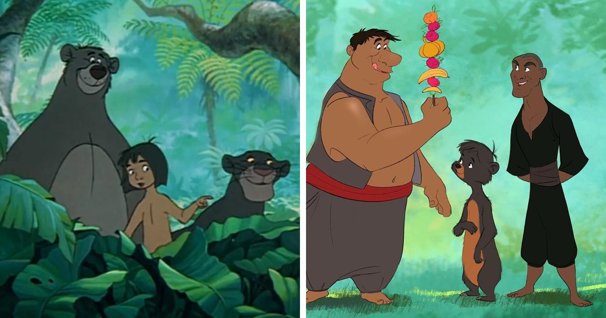 Artysta postanowił zmienić postacie Disneya ze zwierząt w ludzi i odwrotnie. Oto efekty